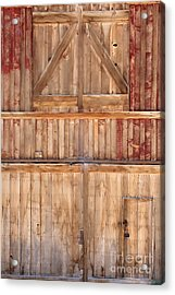 Once Red Doors Acrylic Print by Margie Hurwich