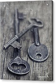 Once Upon A Time There Was A Lock Acrylic Print by Priska Wettstein