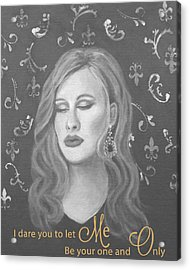 One And Only Acrylic Print by The Art With A Heart By Charlotte Phillips