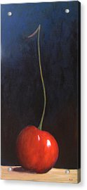 One Cherry Acrylic Print by Marie-louise McHugh