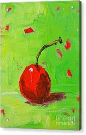 One Cherry Modern Art Acrylic Print by Patricia Awapara