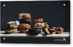 One Dozen Donuts Acrylic Print by Larry Preston