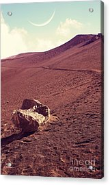 One Fine Day On The Red Planet Acrylic Print by Edward Fielding