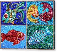 One Fish Two Fish Acrylic Print by Sarah Loft