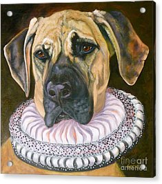 One Formal Pooch Acrylic Print by Susan A Becker