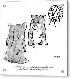 One Gerbil To Another Acrylic Print by Jason Polan