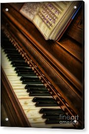 One Last Song  -  Piano Player - Pianist Acrylic Print by Lee Dos Santos