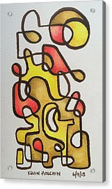 One Liner Harvest 2 Acrylic Print by Kevin Houchin
