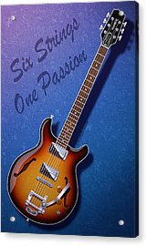 One Passion Acrylic Print by WB Johnston