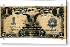 One Silver Dollar Acrylic Print by Lanjee Chee