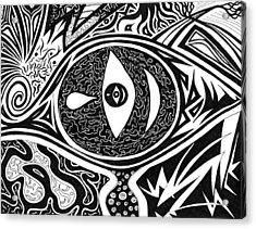 One Tear Acrylic Print by Kerri White