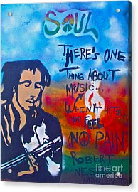 One Thing About Music Acrylic Print by Tony B Conscious