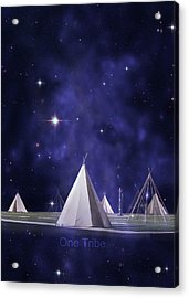 One Tribe Acrylic Print by Laura Fasulo
