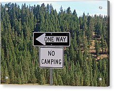 One Way Acrylic Print by Larry Stolle