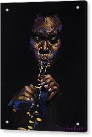 One With The Music Acrylic Print by Ellen Dreibelbis