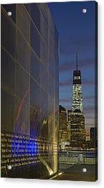 One World Trade Center At Dawn Acrylic Print by Susan Candelario