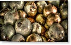 Onions Acrylic Print by David Morefield