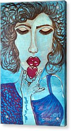 Only Feed Me Love Acrylic Print by Adriana Garces