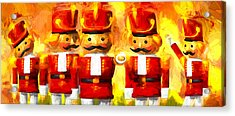 Onward Toy Soldiers Acrylic Print by Bob Orsillo