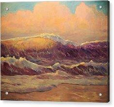 Opal Surf Reworked Finale Acrylic Print by Jim Noel