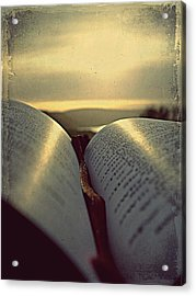 Open Bible Acrylic Print by Anne Macdonald
