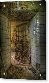 Open Flake Door Acrylic Print by Nathan Wright
