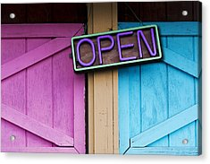 Open Acrylic Print by Paul Wear