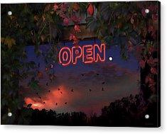 Open Acrylic Print by Ron Jones