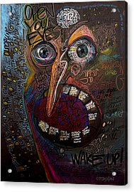 Open Your Eyes Acrylic Print by Frank Robert Dixon