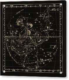 Ophiuchus Constellations, 1829 Acrylic Print by Science Photo Library