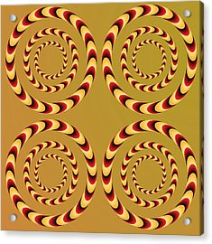 Optical Ilusions Summer Spin Acrylic Print by Sumit Mehndiratta