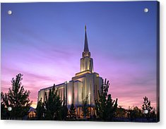 Oquirrh Mountain Temple Iv Acrylic Print by Chad Dutson