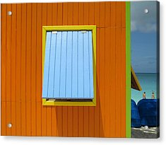 Orange Cabin Acrylic Print by Randall Weidner