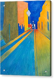Orange France At Night Acrylic Print by Lee Beuther