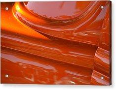 Orange Hotrod Acrylic Print by Dean Ferreira