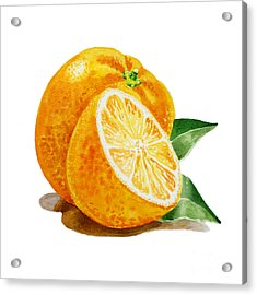 Artz Vitamins An Orange Acrylic Print by Irina Sztukowski