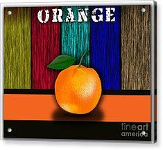 Orange Acrylic Print by Marvin Blaine