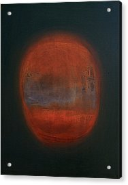 Van Dyke Brown Acrylic Print featuring the painting Orange Orb by Kongtrul Jigme Namgyel