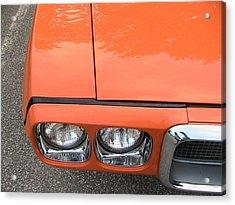 Orange Pontiac Acrylic Print by Nancy Aikins