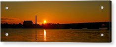 Orange Sunrise Over Dc Acrylic Print by Metro DC Photography
