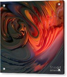 Orange Swirls Acrylic Print by Kimberly Lyon