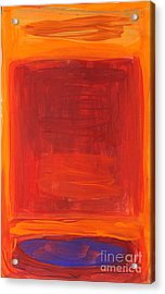 Oranges Reds Purples After Rothko Acrylic Print by Anne Cameron Cutri