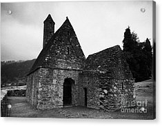 Oratory Known As St Kevins Kitchen Glendalough Monastery County Wicklow Republic Of Ireland Acrylic Print by Joe Fox