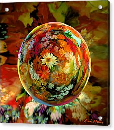 Orb Of Forever Autumn Acrylic Print by Robin Moline