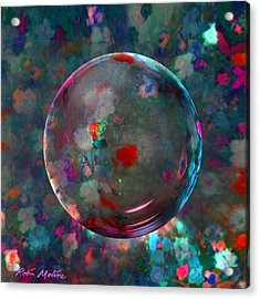 Orbed In Spring Blossom Acrylic Print by Robin Moline