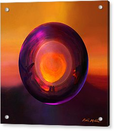 Orbing An Evening Sunset Acrylic Print by Robin Moline