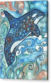 Orca Acrylic Print by Tamara Phillips