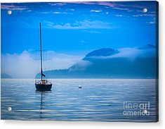 Orcas Sailboat Acrylic Print by Inge Johnsson