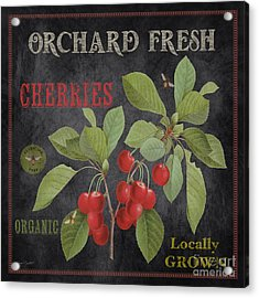 Orchard Fresh Cherries-jp2639 Acrylic Print by Jean Plout