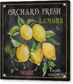 Orchard Fresh Lemons-jp2679 Acrylic Print by Jean Plout